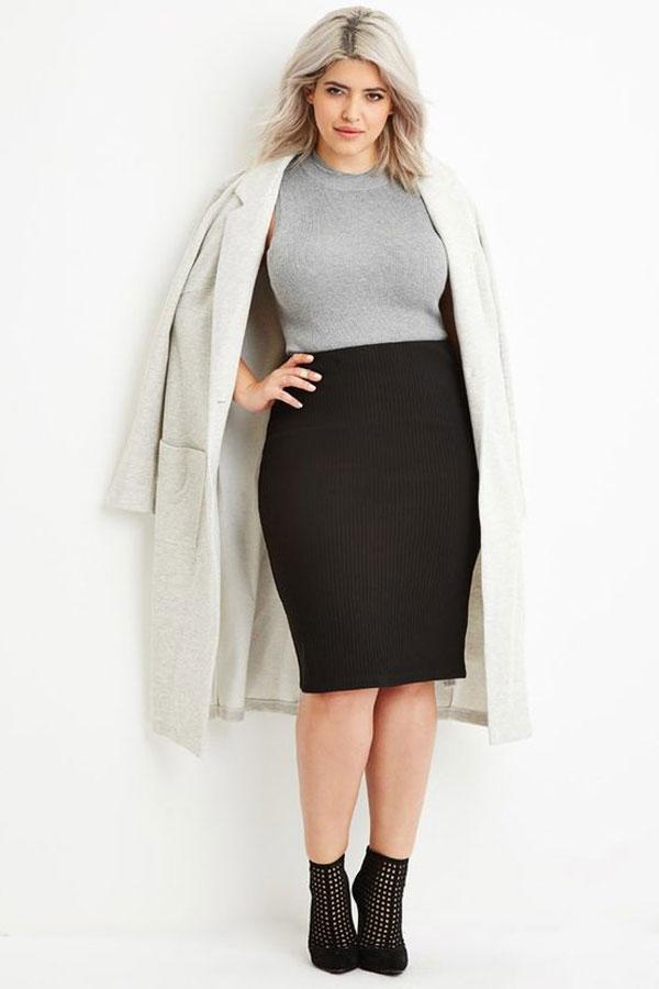 Váy công sở cho người mập lùn 22