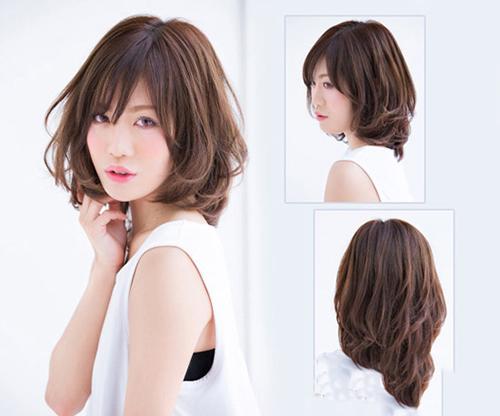 tóc ngắn duỗi phồng