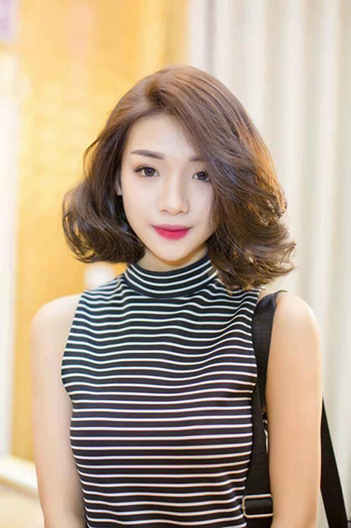tóc ngắn mái dài