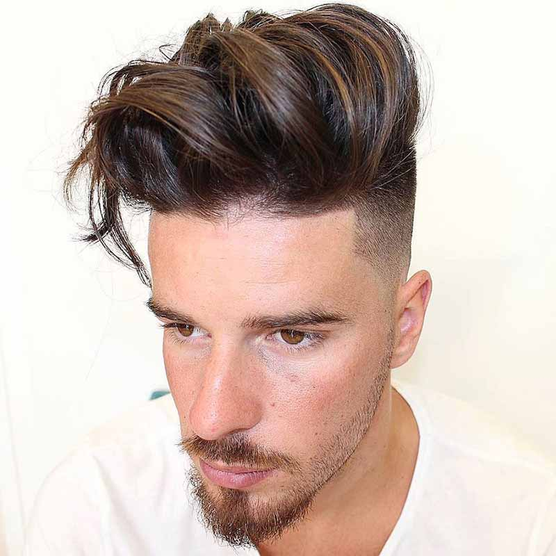 Kiểu tóc Long Pompadour (Pom dài)