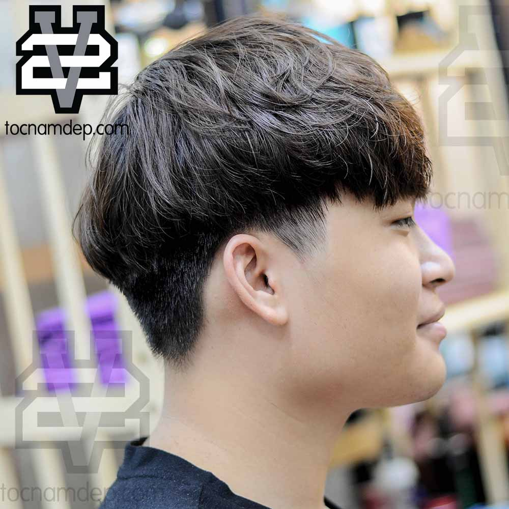 Kiểu tóc nam Đầu Nấm uốn xoăn