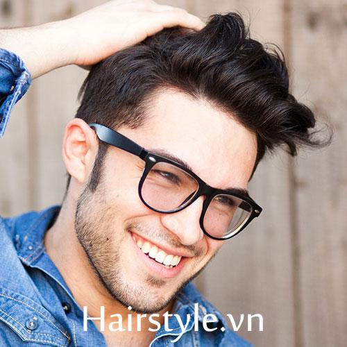 kiểu tóc nam cho mặt tròn 12