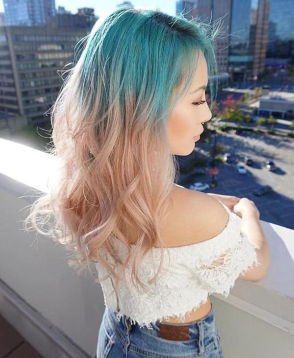 tóc ombre pha 3 màu