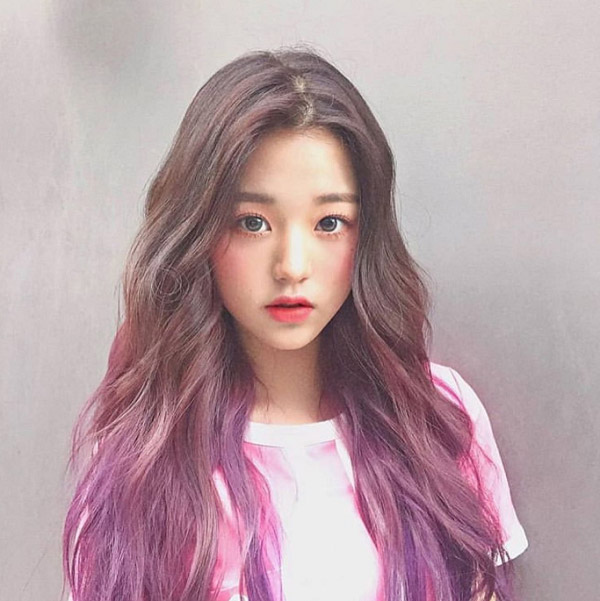 tóc ombre jang wooyoung izone